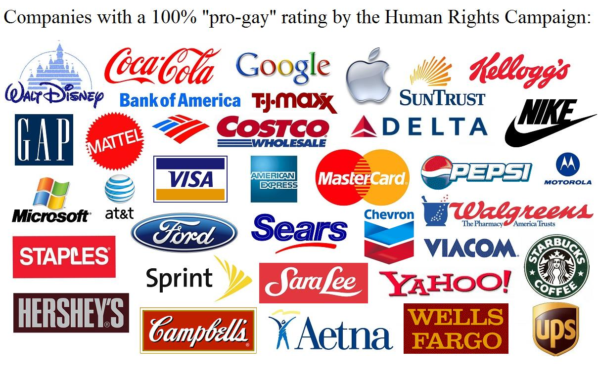 Image result for pro lgbt corporations